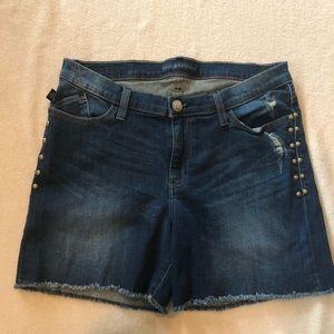 Rock & Republic R&R bumpershoot denim shorts